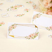 Geo Floral Place Cards (25)